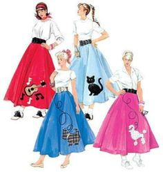 McCall's Costume SEWING PATTERN M5681 Misses/Womens 1950's Skirts & Petticoats | eBay