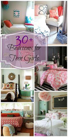 30+ Bedrooms for Teen Girls | @Remodelaholic #home #design #decor #bedroom #teen #girl