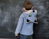 If I ever win the lottery I'm buying this coat for Owen. Wild Grey Wolf Coat. $165.00, via Etsy.