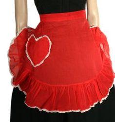 Vintage Apron...I think I have this Valentine Apron!