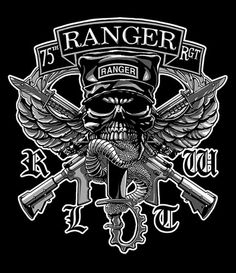 Rangers lead the way. Airborne Army, Airborne Ranger, Army Infantry, Military Insignia, Military Art, Skull Logo, Skull Art, Army Tattoos, Military Tattoos