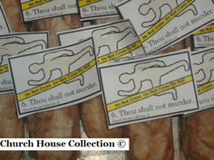 "Church House Collection Blog: Ten Commandments Snacks- ""Thou Shalt Not Murder"" Snack"