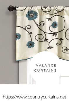 Valance Curtains #curtains #valancecurtains #countrycurtains Decor, Soft Furnishings, Curtain Rods, House Design, Interior Decorating, Printed Shower Curtain, Curtains, Valance Curtains, Upholstery