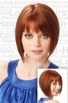 Best Fine Hair Short Haircut with Bangs