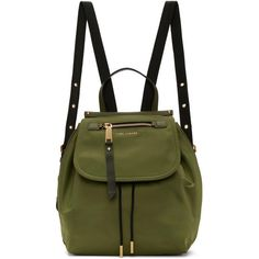Marc Jacobs Green Trooper Backpack ($250) ❤ liked on Polyvore featuring bags, backpacks, green, green rucksack, green bag, rucksack bags, drawstring bag and draw string backpack