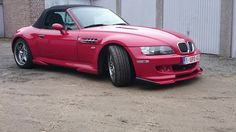BMW Z3 M Roadster red with Hamann body kit