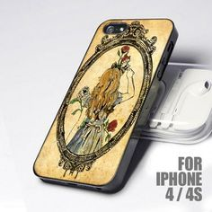 Disney Victorian Alice in Wonderland design for iPhone 4 or 4s case