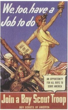 recruiment for the Boy Scouts during WWII