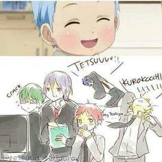Aha! So freaking cute! Akashi is blushing! And Kise is having a nosebleed! ❤❤❤❤❤❤