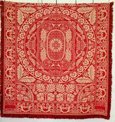 Red & White coverlet