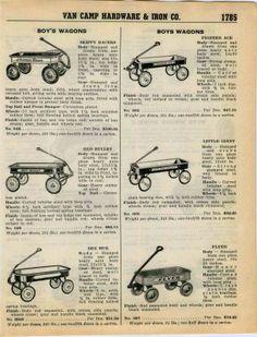 1939 Ad Skippy Racer Flyer Red Bullet Little Giant Coaster Wagons