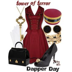 Tower of Terror Dapper Day, I absolutely love this outfit! Dapper Day Disneyland, Disney Dapper Day, Disneyland Rides, Edna Mode, Disney Inspired Fashion, Disney Fashion, Disney Dress Up, Disney Clothes, Dapper Day Outfits