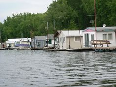 La Crosse, Wisconsin - Black River House Boats  OMG.... I can't believe I found this pic... my sister and I used to swim right here when we were kids.... Memories oh Memories...