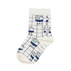 Milky Grid Socks (3 Colors)