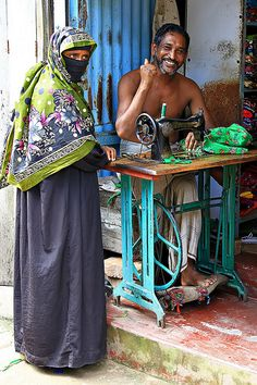 A tailor in Chittagong, Bangladesh. by cookiesound on Flickr