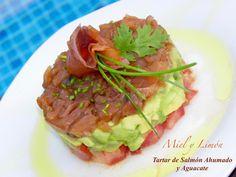 Miel y Limón Recetas Salmon Y Aguacate, Avocado Toast, Guacamole, Vegetarian Recipes, Cabbage, Tacos, Mexican, Vegetables, Cooking