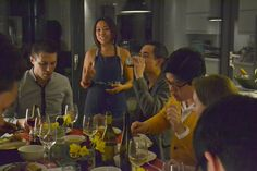 Mae with guests: Kamayan Filipino Supper club. Find out more about this supper club on CookoutChef.com #cookoutchef
