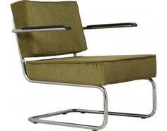 Lounge stoel Ridge Rib - Groen - met arm - Zuiver - Woonwebwinkel LiL.nl Blue Furniture, Vintage Furniture, Furniture Design, Outdoor Chairs, Outdoor Furniture, Outdoor Decor, Retro, Armchair, Interior Design