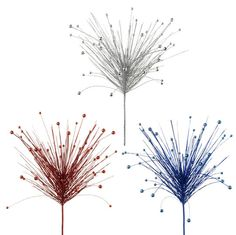 """RAZ 30"""" Red, Silver & Blue Spray    You can purchase these separately at www.perfectlyfestive.com #spray #4th-of-July #memorial-day"""