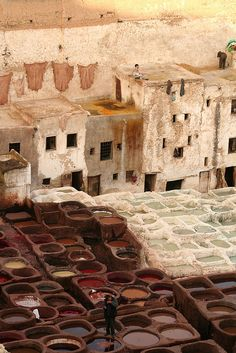 Fes, Morocco ... I do not want to visit these. They're the tanneries.