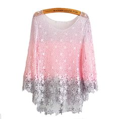 Pink Honey Peach Crochet Lace Blouse from FUNKISS on Wanelo