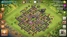 My clash of clans regular village layout.
