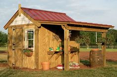 Build this potting shed. Instructables. http://www.instructables.com/id/Build-This-Potting-Shed/