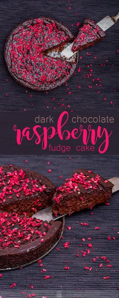 Low-Carb Dark Chocolate-Raspberry Fudge Tart - made with frozen raspberries. Chocolate Raspberry Cake, Chocolate Fudge Cake, Low Carb Chocolate, Chocolate Desserts, Chocolate Heaven, Chocolate Chocolate, Delicious Desserts, Dessert Recipes, Yummy Food
