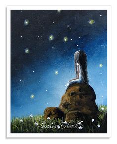 I called this piece If You Came Back. I love this piece for so many reasons and hope you do too. The dancing fireflies really make this piece special. DREAMER will save you 15% when you order an 8x10 inch print from my Etsy shop. Just click on PIC.