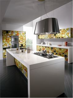 Bright and Alive Modern Kitchen Designs – Crystal by Scavolini | DigsDigs