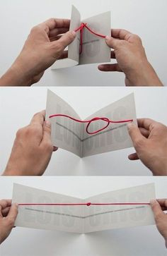 """tying the knot"" wedding invitation. Would be tedious to make, but so cute."