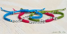 Friendship Bracelets with Rhinestone Chain - Stacking Macrame Boho.