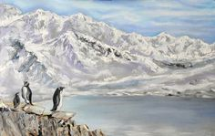 Antarctica penguins Oil Painting