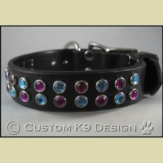 """The """"Countess"""" Dog Collar Leather Dog Collars, Belt, Bracelets, Dogs, Accessories, Jewelry, Fashion, Belts, Moda"""