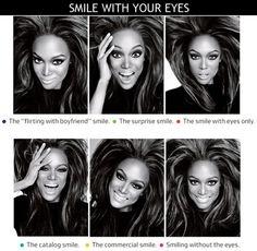 "Tyra & her ""smize""/""smeyes"" lol Fashion Photography Poses, Photography Tips, Fashion Poses, Creative Photography, Smile With Your Eyes, America's Next Top Model, Modeling Tips, Modeling Portfolio, Photoshop"