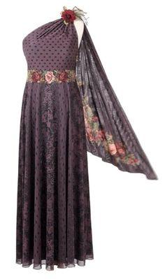 Michal Negrin - One Shoulder Train - Full-Length Designer Dress