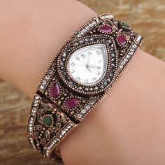 Bulcome Brand Women Watches Bracelet Quartz Watches Vintage Turkish Bracelet Bangles Wrist watches Montre Femme Relojes Mujer