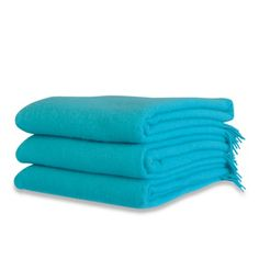Color Azul Turquesa - Turquoise!!!  Wool Throw