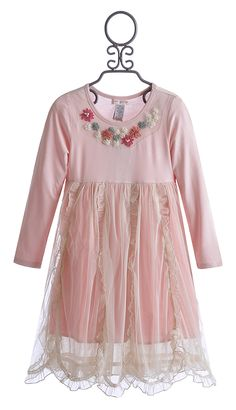 Mimi and Maggie Little Girls Pink Pirouette Dress $86.00