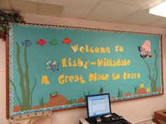 Under the Sea themed WELCOME bulletin board