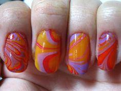 swirl nail polish tutorial