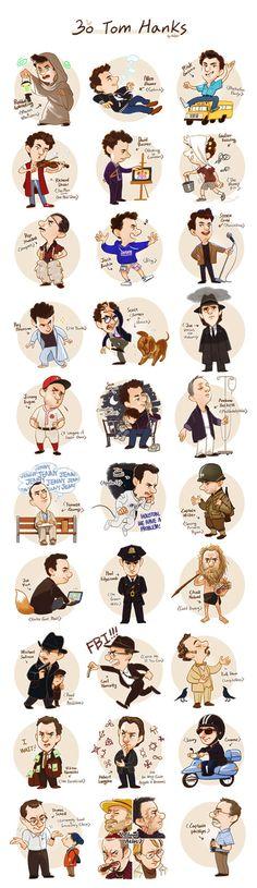 30 Tom Hanks ❤️                                                                                                                                                                                 More