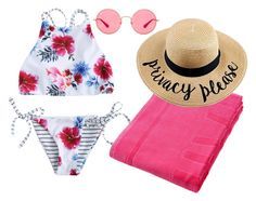 Beach Please by alanna-clothing on Polyvore featuring moda, Ray-Ban and Vilebrequin