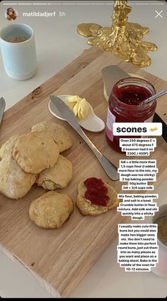 Scones recipe by Matilda Djerf ( on IG) Scones, Fun Baking Recipes, Food Is Fuel, Food Goals, Food Blogs, Aesthetic Food, Food Cravings, Love Food, Food Inspiration