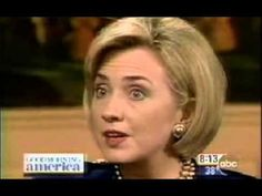 """Hillary Clinton on Good Morning America - 1998.....(Americans): """"Everyone just needs to take a deep breath & relax."""" , about the whole Bill & Monica Lewinsky relationship & even Jennifer Flowers, as well."""
