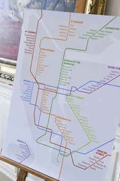 Un plan de métro pour le plan de table = mariage urbain ! A subway plan for the table seatting plan = urban wedding ! #b4wedding #mariage #wedding