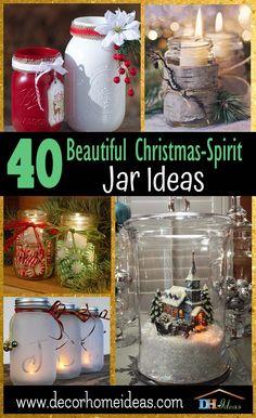 Mason Jar Christmas Crafts, Jar Crafts, Diy Christmas Gifts, Holiday Crafts, Christmas Ideas, Christmas Things, Ornament Crafts, Homemade Christmas, Ornaments