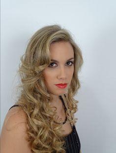 peinado suelto rizos con tenacillas peinados pinterest - Peinados Con Tenacillas