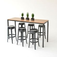 Classic Party Rentals Natural Wood Barstool Speakeasy Pinterest - High top communal table