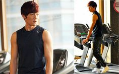 10. He likes to work out.